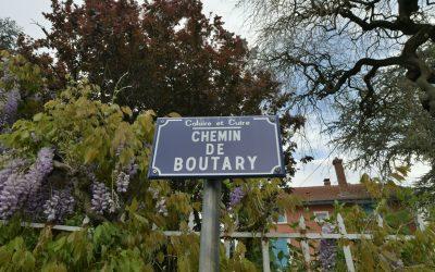 CHEMIN DE BOUTARY. Origine du nom
